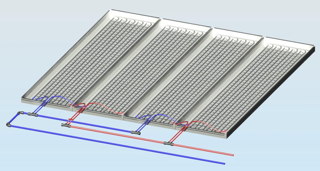 deckenkühlung coolflex modul für metallkasetten standard und akustik decke enolution